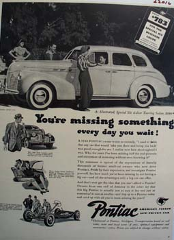 Pontiac You Are Missing Something Ad 1940