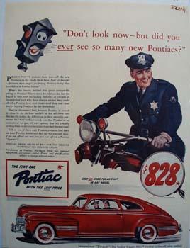 Pontiac Do Not Look Now Ad 1941