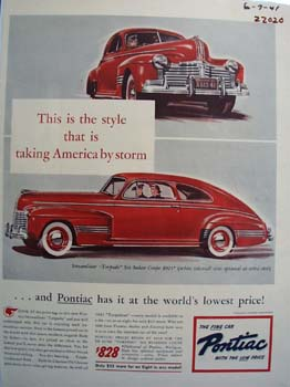 Pontiac This Is The Style Ad 1941