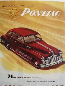 Pontiac Finest Of Silver Streaks Ad 1946