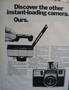 Argus Camera Discover The Other Ad 1965