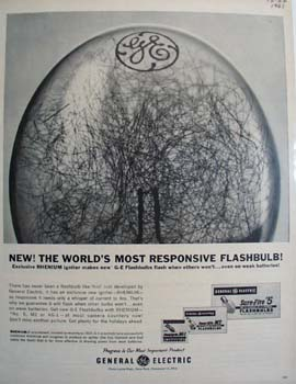 General Electric Flashbulbs Worlds Most Responsive Ad 1961