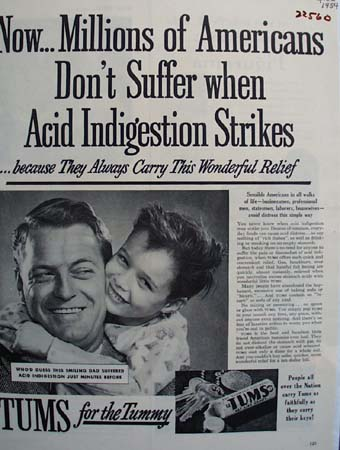 Tums Carry This Wonderful Relief Ad 1954