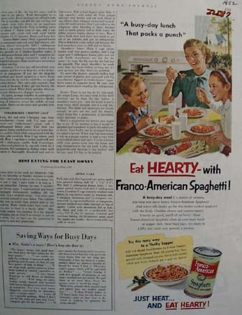 Franco American Eat Hearty Ad 1952