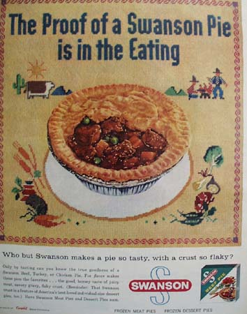 Swanson Pie Proof Is In The Eating Ad 1958