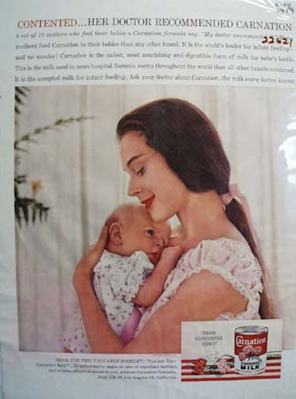 Carnation Milk Mother And Baby Ad 1959