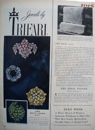 Trifari Jewelry Most Loved Gift Ad 1959