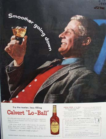 Calvert Lo Ball Ad 1955