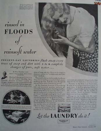 Let The Laundry Do It Ad 1930