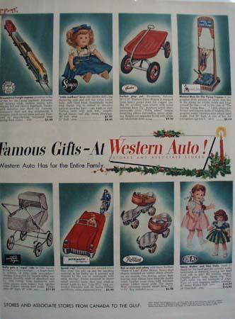 Western Auto Christmas Ad 1953