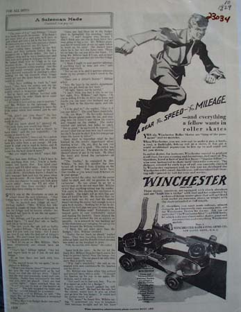 Winchester Roller Skates Speed And Mileage Ad 1929