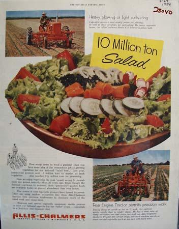 Allis Chalmers 10 Million Ton Salad Ad 1954