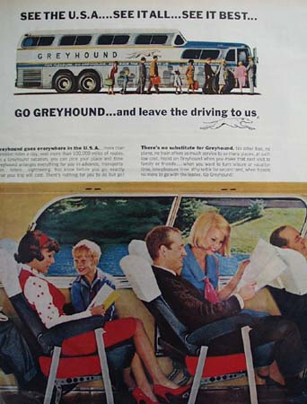 Greyhound Best Things In Life Ad 1965