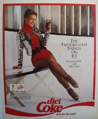 Coca Cola And Katarina Witt Ad 1992