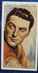 1934 George Brent Film Star Card, No 7