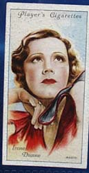 1934 Irene Dunne Film Star Card, No 17
