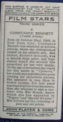 1938 Constance Bennett Film Star Card,