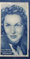 1949 Maureen O Sullivan  movie card,