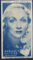 1949 Marlene Dietrich movie card,