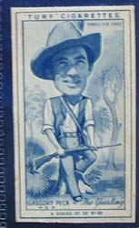 1949 Characture Gregory Peck movie card