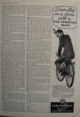 New Departure Brakes Can Stop On Dime Ad 1935