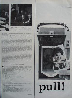 Polaroid Land Camera Push Ad 1959
