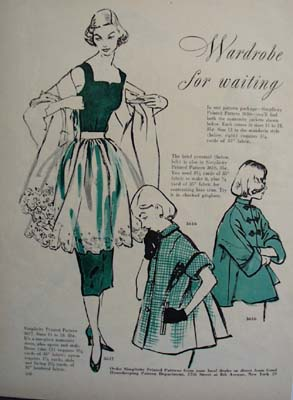 Wardrobe In Waiting Ad From Simplicity Ad 1951