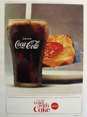 Coca Cola And Sandwich Ad 1964
