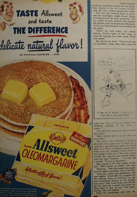 Swifts Oleomargarine Taste The Difference Ad 1950