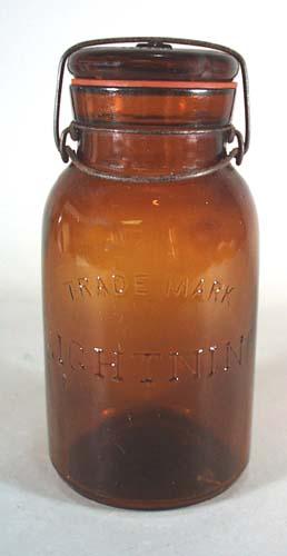 Amber Lightning Canning Jar by Putnman