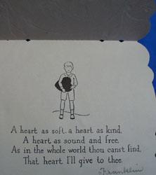 USA valentine with doily attatched