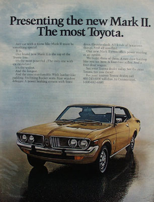 Toyota Mark II  The Most Toyota Ad 1972
