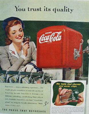 Coca Cola You Trust Its Quality Ad 1941