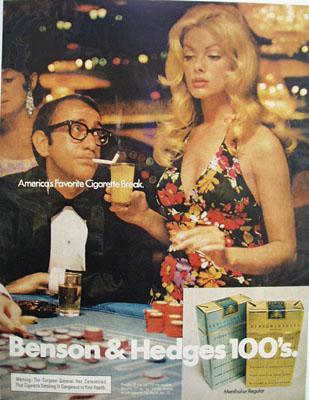 Benson And Hedges Famous Cigarette Break Ad 1972