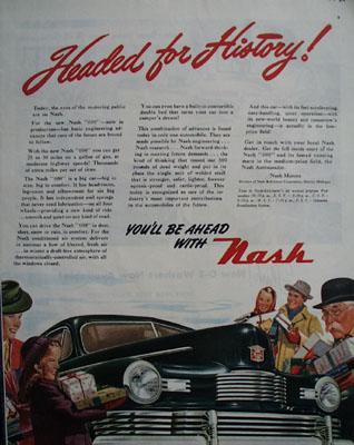 Nash Headed for History Ad 1945