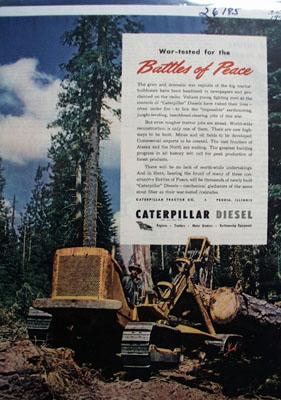 Caterpillar Battles of Peace Ad 1945