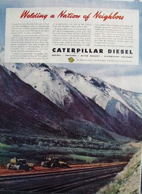 Caterpillar Welding A Nation of Neighbors Ad 1945