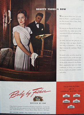 Body By Fisher Beauty Takes A Bow Ad 1945