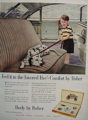 Body By Fisher Favored Five Ad 1951