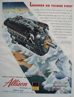 Allison Leaders Do Things First Ad 1944
