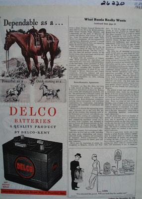 Delco Dependable As A Saddle Horse Ad 1945