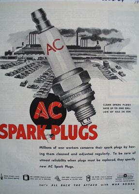 AC Spark Plugs Clean Spark Plugs Save Ad 1944