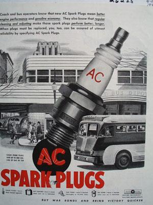 AC Spark Plugs Means Gasoline Economy Ad 1944
