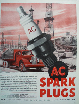 AC Spark Plugs Workers And Oil Fields Ad 1945