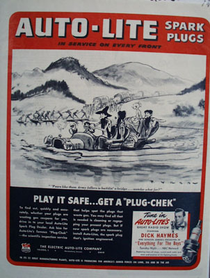 Auto Lite Building A Bridge Ad 1944