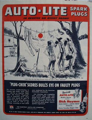 Auto Lite Clothes On Line Ad 1945