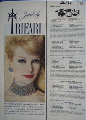 Trifari Jewelry Necklace And Earrings Ad 1960