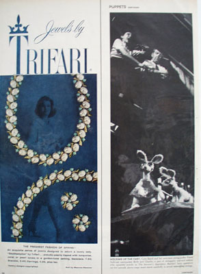 Trifari Jewelry Freshest Fashion Of Spring Ad 1959