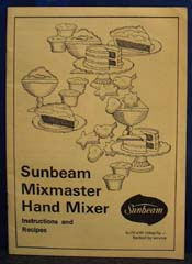 Sunbeam Mixmaster Hand Mixer Guide