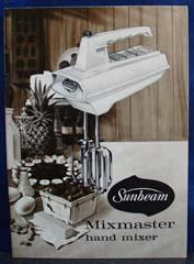 Sunbeam Mixmaster Hand Mixer Guide 1960